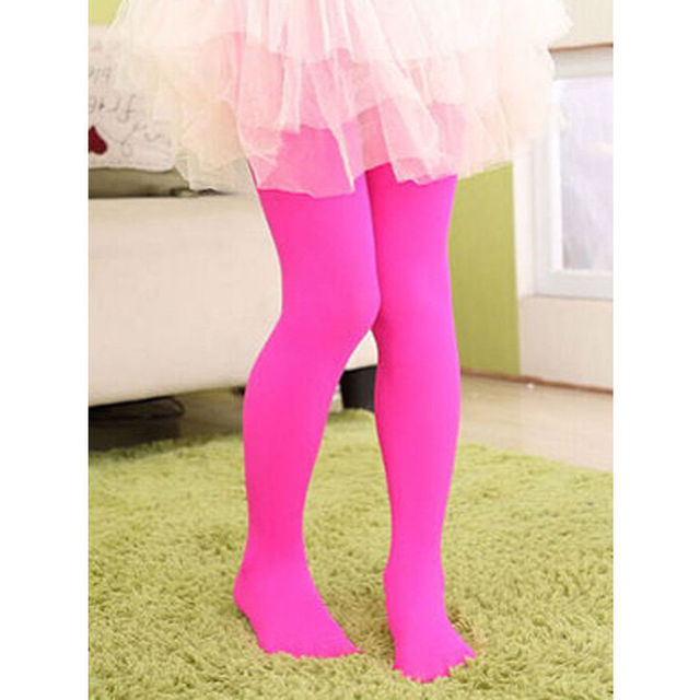 Kurphy Spring Candy Color Kids Pantyhose Ballet Dance Tights for Girls Stocking Children Velvet Solid Pantyhose Girls Tights