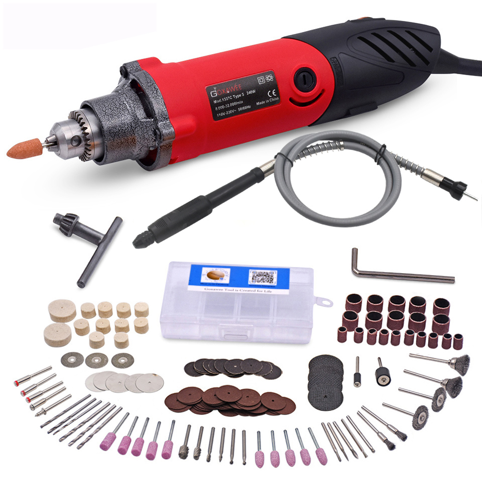 220V 240W Electric Drill 6 Position Variable Speed Rotary Tool Mini Die Grinder For Grind Ceramic