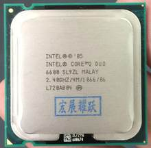 Бесплатная доставка, оригинальный процессор Intel E6600 для настольных компьютеров, процессор 2M/2,4 ГГц/1066 FSB LGA 775, двухъядерный процессор, разные ...