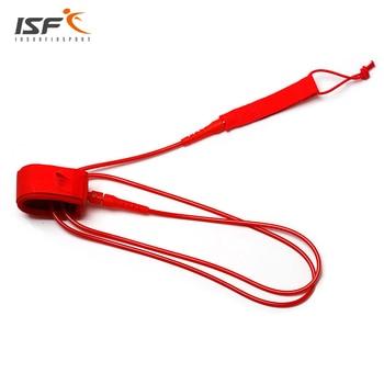 Straight TPU Red 6 - 12 Feet 7mm Surf leash Surfboard Leash Double Polyurethane Nylon Stainless Steel Swivels Surf leash 1
