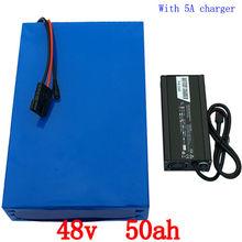 Bezpłatne shiping 48 V 50ah 2000 w rower Elektryczny bateria Litowa 48 V 50AH rower BMS baterii 26650 5000 MAH Komórkowy 50A 54.6 V 5A ładowarka