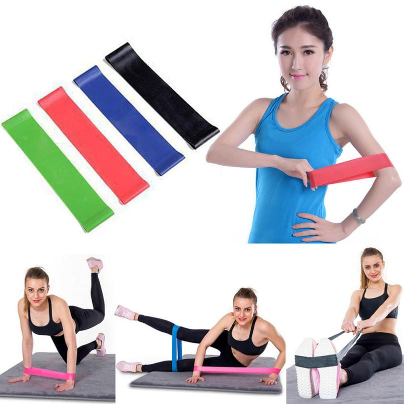 2018 NEW 4Pcs Latex Resistance Band Loop Exercise Yoga Bands Workout Fitness Training Cross Fit + Bag 600*50*0.35mm perfect Gift
