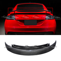 OLOTDI Car Styling TTRS Style Carbon Fiber Double Layer Rear Trunk Spoiler Wing for Audi TT TTS MK2 2008 2014