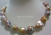 Wholesale Details about huge Color AAA 15 south sea baroque pearl necklace 18 INCH