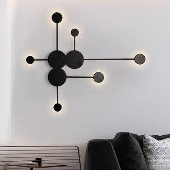 Applique Murale Minimaliste Moderne Pour Salon Chambre Cuisine Decoration Murale Peinture Lampe Art