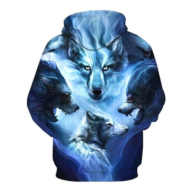 WOLF 3D HOODIE