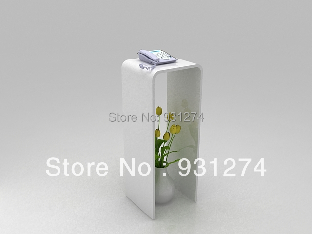 one lux waterfall u shaped acrylic console tablelucite flower pedestal stand telephone corner