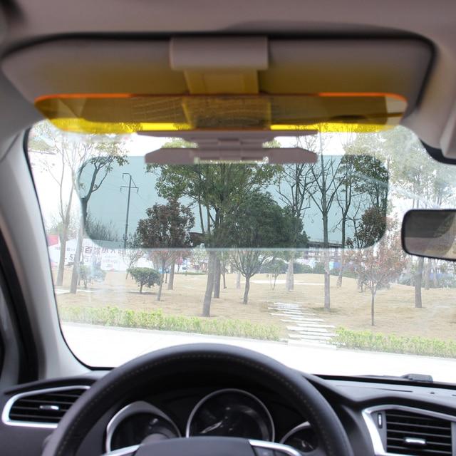 Hd Sun Visor Goggles For Driver Day Night Anti-dazzle Mirror UV Fold Flip Down View Dazzling Goggles Interior Car Accessories