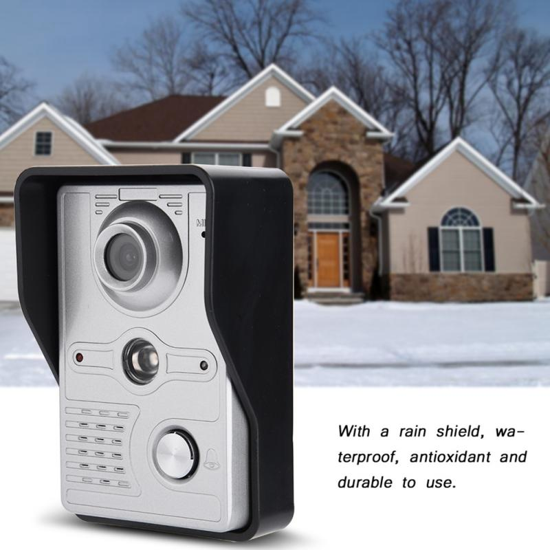 7 TFT visible doorbell camera visible intercom door intelligent security with night vision infrared waterproof cable