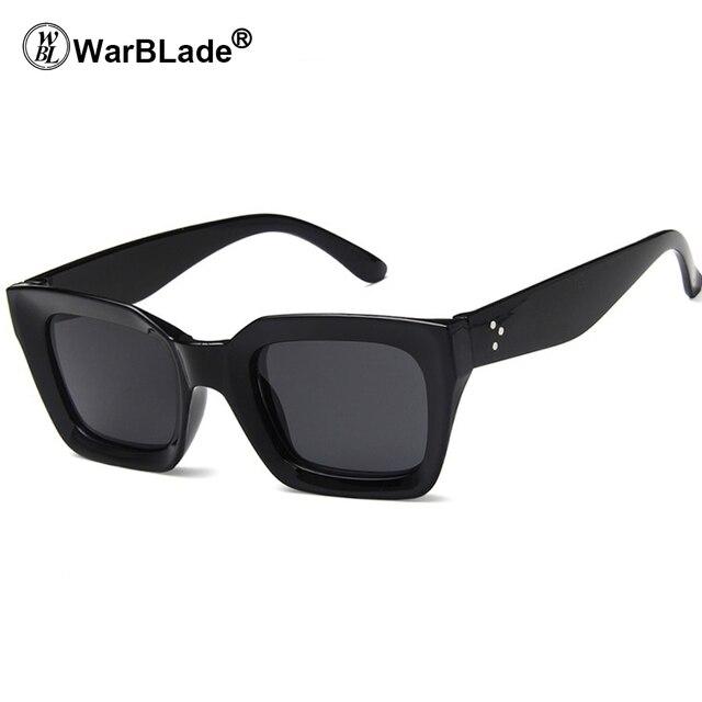 moda firmata c6743 d05d2 US $3.7 20% OFF|New Square Sunglasses Women Men 2018 Fashion Black White  Pink Red Ladies Rectangle Cat Eye Sun Glasses Women Brand UV400-in  Sunglasses ...