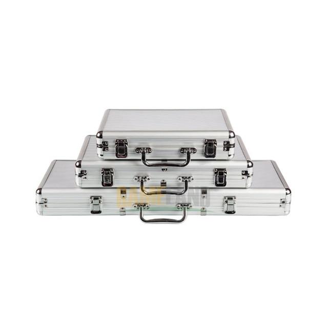 Malette poker en Aluminium/PU/ABS Haute Qualité avec 300/500 jetons 2