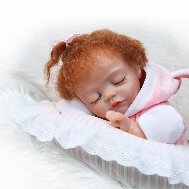Реборн спальный милая девочка кукла Возрожденный силикон реборн Младенцы реалистичные куклы для детей ясельного возраста куклы Boneca reborn Де