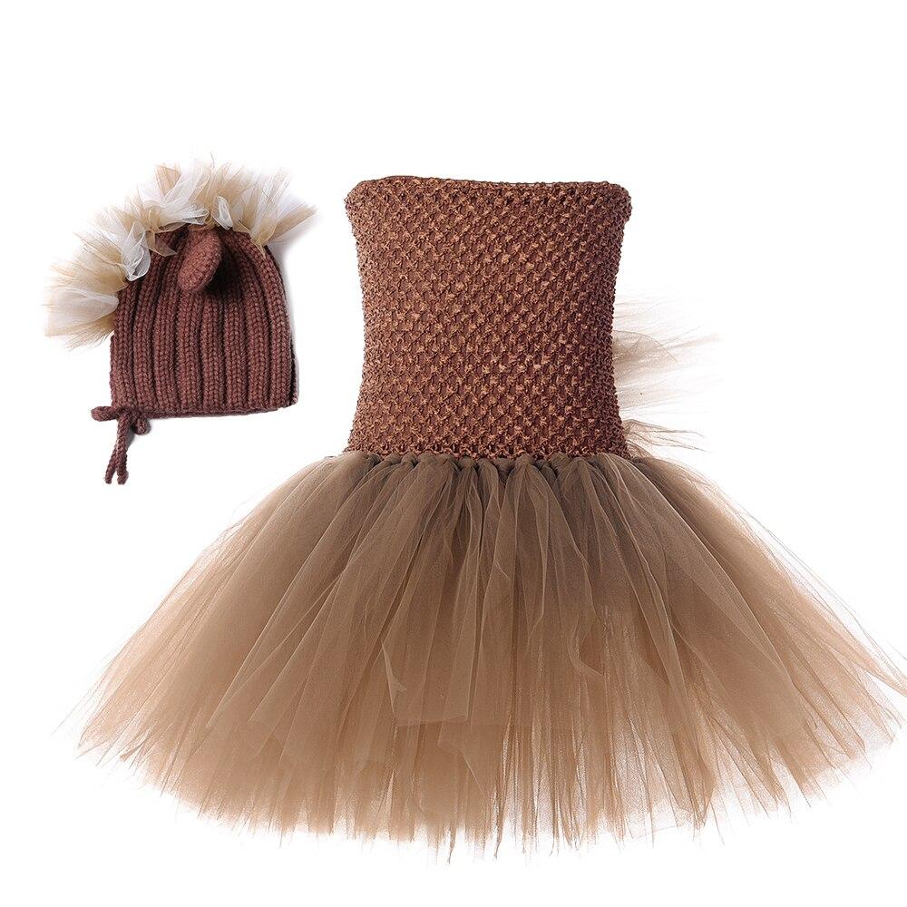 Little Horse Tutu Christmas Dress for Girl Dress Spring Girl Tulle Knee Length Dress with Hat Girls Animal Pony Unicorn Dress 8Y (3)