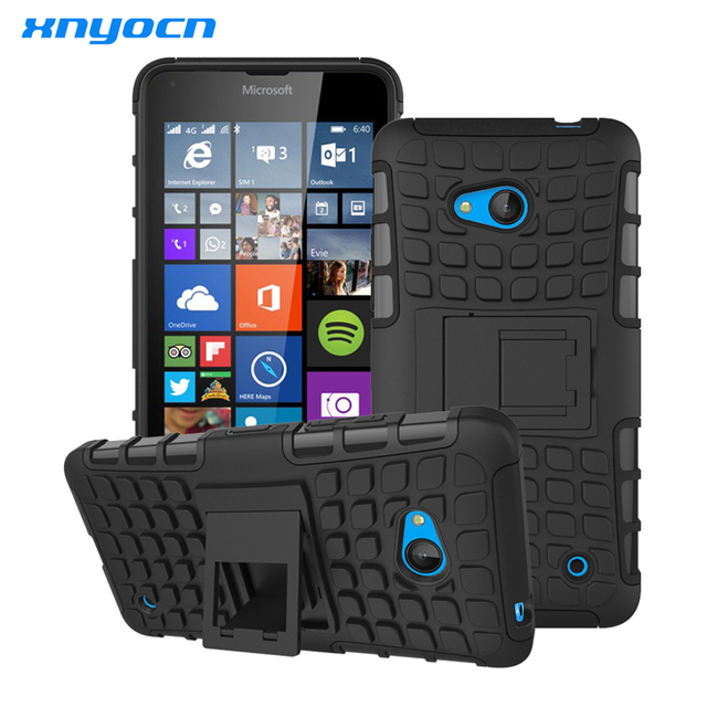 For Nokia Lumia 640 Case Heavy Duty Armor Shockproof Hybird Hard Rugged Silicone Rubber Phone Cases