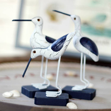 3 шт./компл. дерево птиц фигурки Средиземноморский Стиль мини Oiseau de mer Seafowl украшения Творческий дом Декор