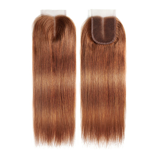 Image 5 - 99J/Burgundy Red Color Straight Human Hair Lace Closure 4x4inch Free/Middle Part X TRESS Brazilian Non Remy Swiss Lace Closure