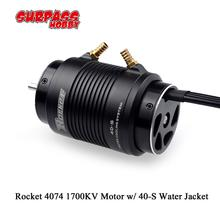 SURPASSHOBBY Water Jacket S with Rocket 4074 1700KV 4P Brushless Motor for Traxxas M41 Catamaran Spartan 1000mm(or Above)RC Boat