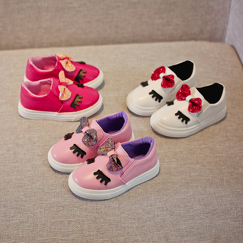 Detail Feedback Questions about 2018 Spring Autumn Girls Shoes Butterfly  Knot Platform Shoes For Kids Casual Shoes Eyelash Loafers For Baby Girls  MCH111 on ... b21c6974295f