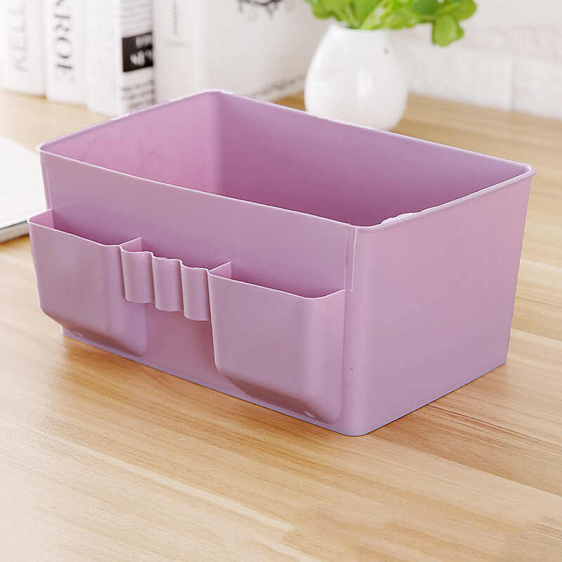 Plastic Desk Desktop Organizer Multifunctional Drawer Jewelry Case Cosmetics Cotton Swabs Holder Storage Box Makeup Organizer