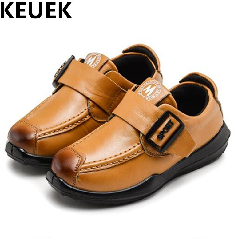 NEW Spring Autumn Children Genuine Leather Shoes Boys Casual Sneakers Baby Flats Comfortable Single Shoes Kids