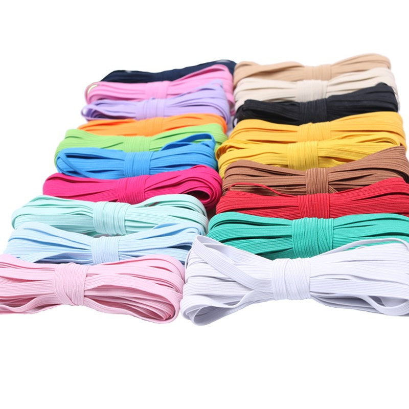 Hot Sell Colorful High-elastic Round Elastic Bands 6mm Rope Rubber Band Line Spandex Ribbon Waist Band Garment Accessoty5BB5627