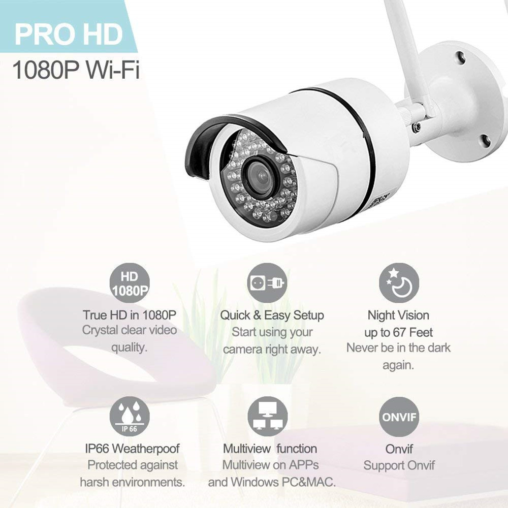 16ch wireless security IP cameras system 1080P for home cctv video  surveillance kit outdoor indoor 2 0MP wifi camera nvr set