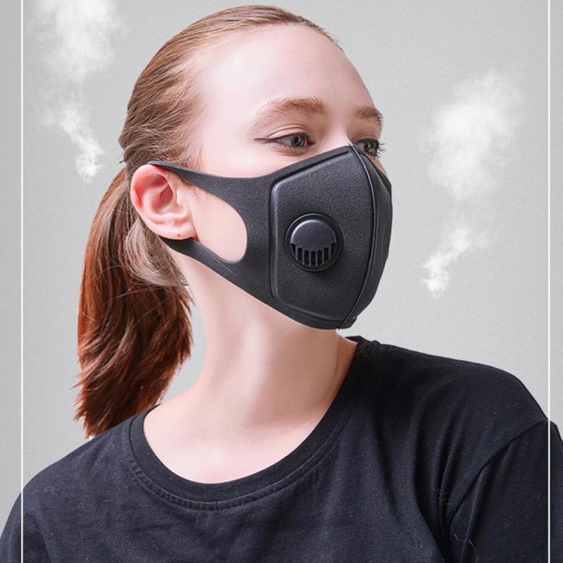 Breath Valve Cotton PM2.5 Anti Haze Mask Activated Carbon
