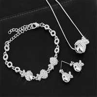 Collar largo de Oso de moda, suéter de pez, collares, collar de diamantes de imitación para mujer, regalo de cumpleaños T1319