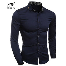 2017 New Autumn Winter high quality Men Shirt Male  Shirts Men's Fashion Casual Long Sleeve Business Formal Shirt camisa XXL