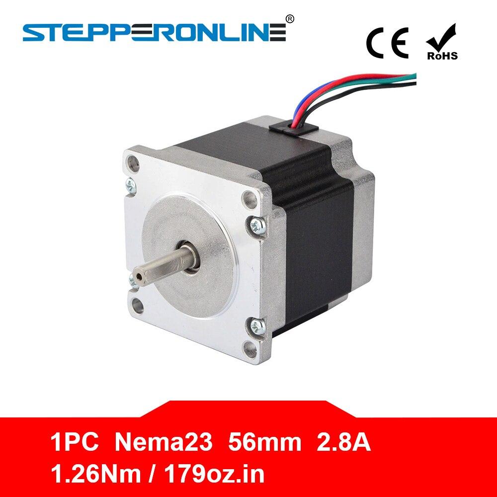 1 stück Nema 23 Stepper Motor 23HS5628 1.26Nm (178.4oz.in) 4-blei 57 motor 56mm 2.8A 6,35mm Welle für CNC Laser