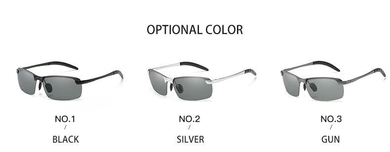 Photochromic Sunglasses Men Polarized driving Chameleon Glasses Male Change Color SunGlasses Day Night Vision Driving Eyewear