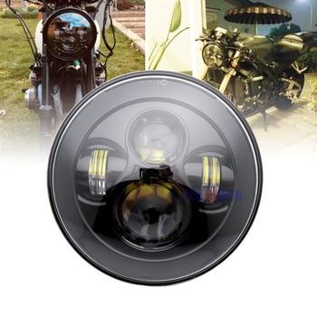 "7"" LED Headlight Motorcycle Headlamp Head Light for Heritage Softail Road King Street Glide Electra Glide Ultra CVO Headlight"