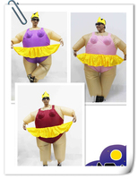 Onesie Promotion 2017 Newest Inflatable Ballet Costume Halloween Party Funny Fat Man Fancy Animal For Adults