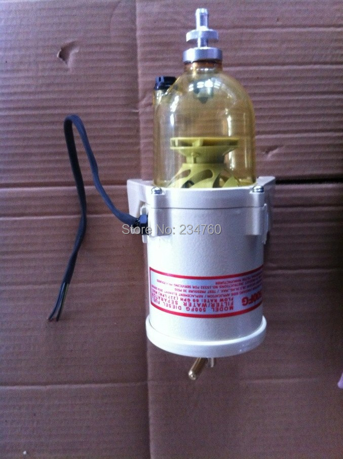 ФОТО Universal all in one Heating Fuel filter water separator No original Racor Turbine 500FH/H  diesel engine Replacement 2010PM