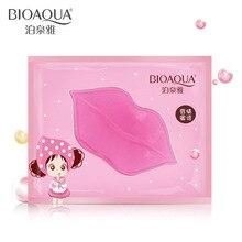 Bioaqua, женская маска для губ с кристаллами, коллагеновые подушечки, увлажняющая эссенция от старения против морщин, накладная подушечка, гель для ухода за губами, разбавляет цвет губ