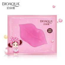цена Bioaqua Women Crystal Collagen Lip Mask Pads Moisture Essence Anti Ageing Wrinkle Patch Pad Gel Lip Care Dilute the Lip Color