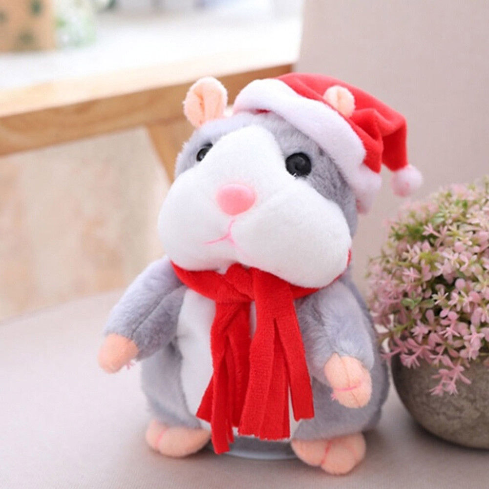 Cheeky Hamster Electric Talking Walking Pet Christmas Toy Speak Record Hamster Gift M09 2018 talking hamster mouse pet plush toy learn to speak electric record hamster educational children stuffed toys gift 15cm