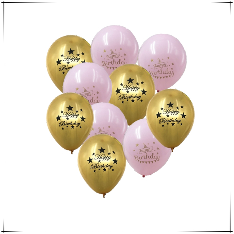 10 Inch Happy Birthday Balloon 10pcs Latex Air Balloons Party Decorations Birthday Party Decorations Kids Baby Shower Ballon.Q
