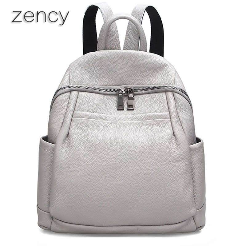ZENCY New Design Fashion Real Leather Backpack Genuine Leather Women s Backpacks Ladies Girl s School