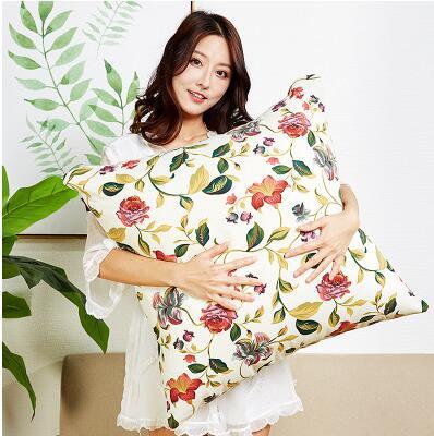 Large Sofa Hug Pillowcase Cotton Large Living Room Bedroom Bed Large Cushion Cover 70 Cm Square 65 Cm Pillowcase