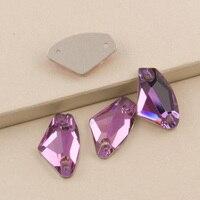 Rose 3256 Galactic 9x14 12x19 16x27mm Sewing Chain Crystal Rhinestones Sew on Crystal Flat back Rhinestones Pink Stones
