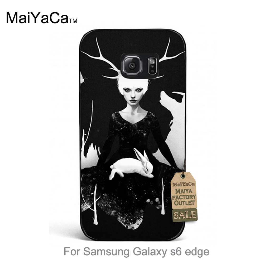<font><b>Space</b></font> <font><b>Within</b></font> cool girl rabbit Unique Design Newest <font><b>The</b></font> Fashion phone case For case GALAXY s6 edge