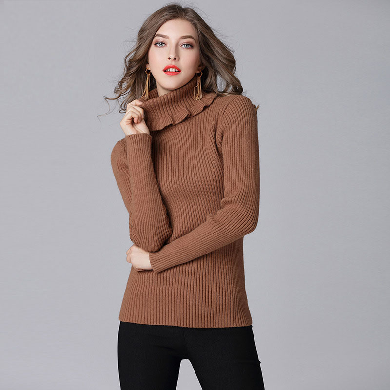Pullovers Sweater Women Knit Plus Size Turtleneck Autumn Winter Fall Fashion Christmas Sweaters Girls Tops Womens Knitted Cape