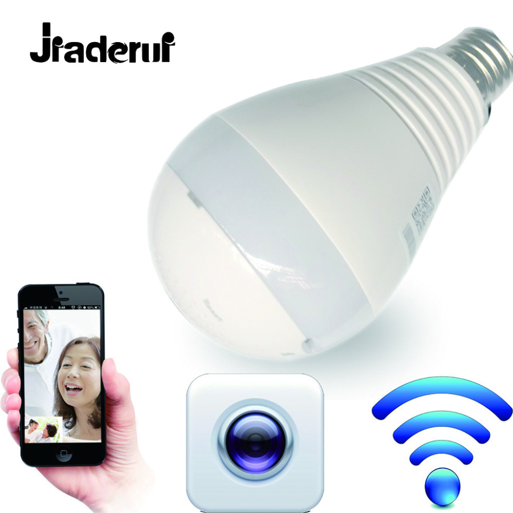 Jiaderui LED Bulb With 360 degree Wireless IP Bulb Monitor Smart Home 3D VR Monitor Home Security WiFi LED Bulb Monito Panoramic smart bulb e27 7w led bulb energy saving lamp color changeable smart bulb led lighting for iphone android home bedroom lighitng