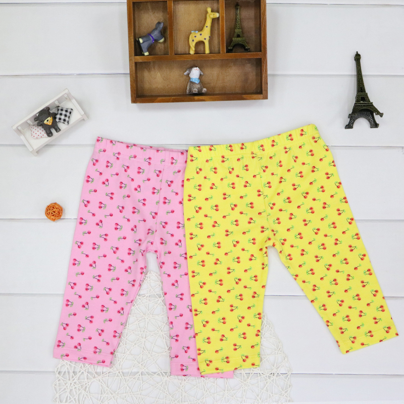Baby Leggings for 9 to 24 months girls 95% cotton long trousers baby 2 pcs/lot pants print children clothes low price clothing