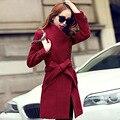 Mulheres primavera casaco feminino casaco 2016 abrigos mujer sobretudo misturas de lã poncho inverno manteau femme feminino outono plus size