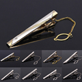 Midger Brand Skinny Mens Suit Tie Clip Wedding Grooms Alloy Tie Clip Slim Glassy Necktie Clip Clasp Pin Accessories 10 PCS/LOT