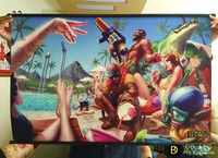 League Of Legends HD Game Scrolls Poster Bar Cafes Home Decoration Banners Hanging Art Waterproof