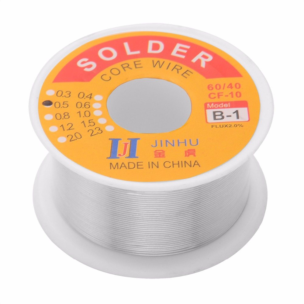 1 Roll <font><b>60/40</b></font> Soldering Wire 0.5mm 100g Tin Lead Melt Rosin Core <font><b>Solder</b></font> Wire Flux 2% Reel Roll 55x28mm image