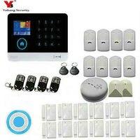 YoBang безопасности Беспроводной RFID видеонаблюдения дома сигнализации Системы обнаружения дыма Сигнализация + Стекло сломанной дома охранно